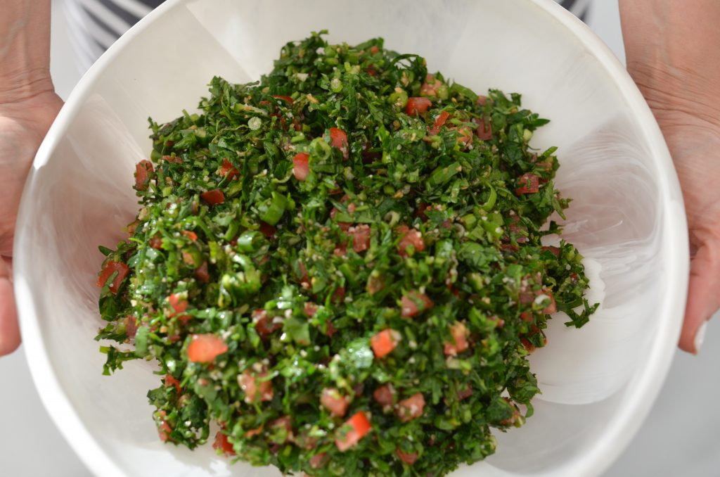 tabouli salad in a bowl