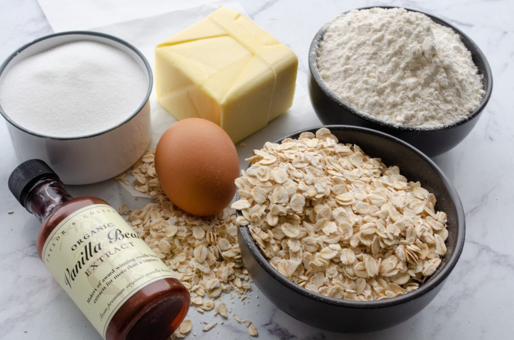 Rolled oats biscuits ingredients