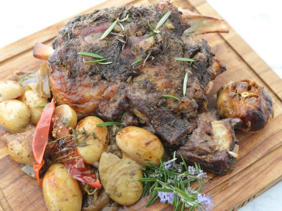 roast lamb with veggies