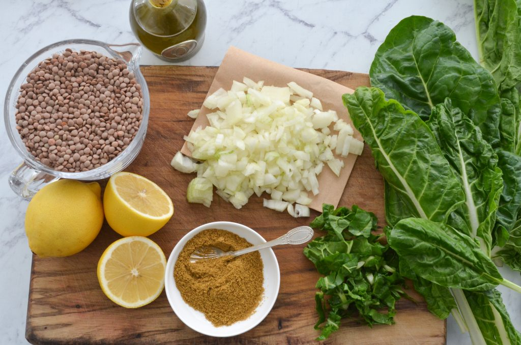 lentil and spinach soup ingredients