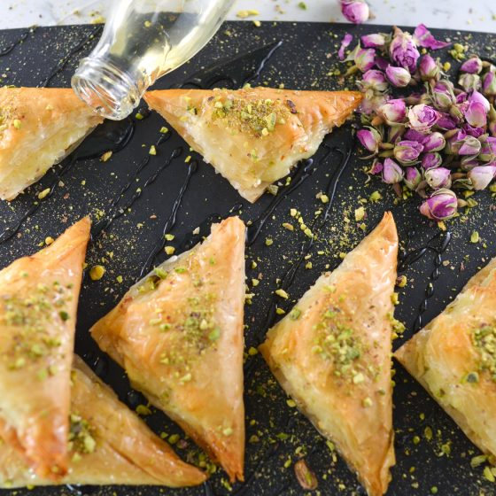 Sha'ybiyat Ashta (custard) filled filo
