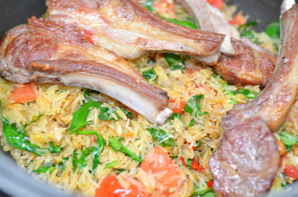 spinach lamb rice return cutlets to pan by rouba shahin-WEB-001