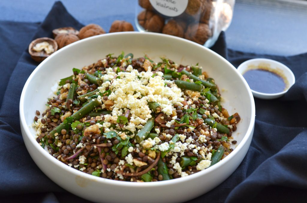 lentil and bean salad