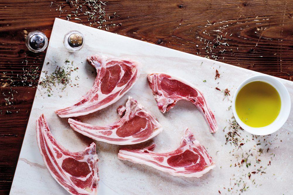 raw lamb cutlets