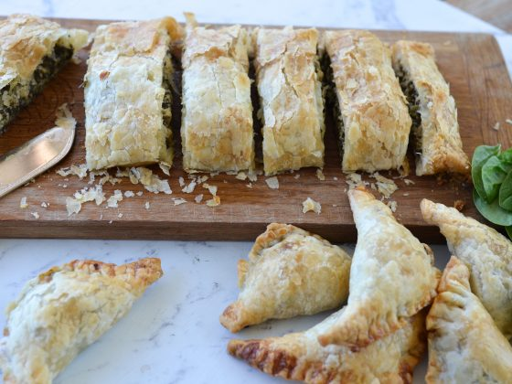 leek and spinach pies