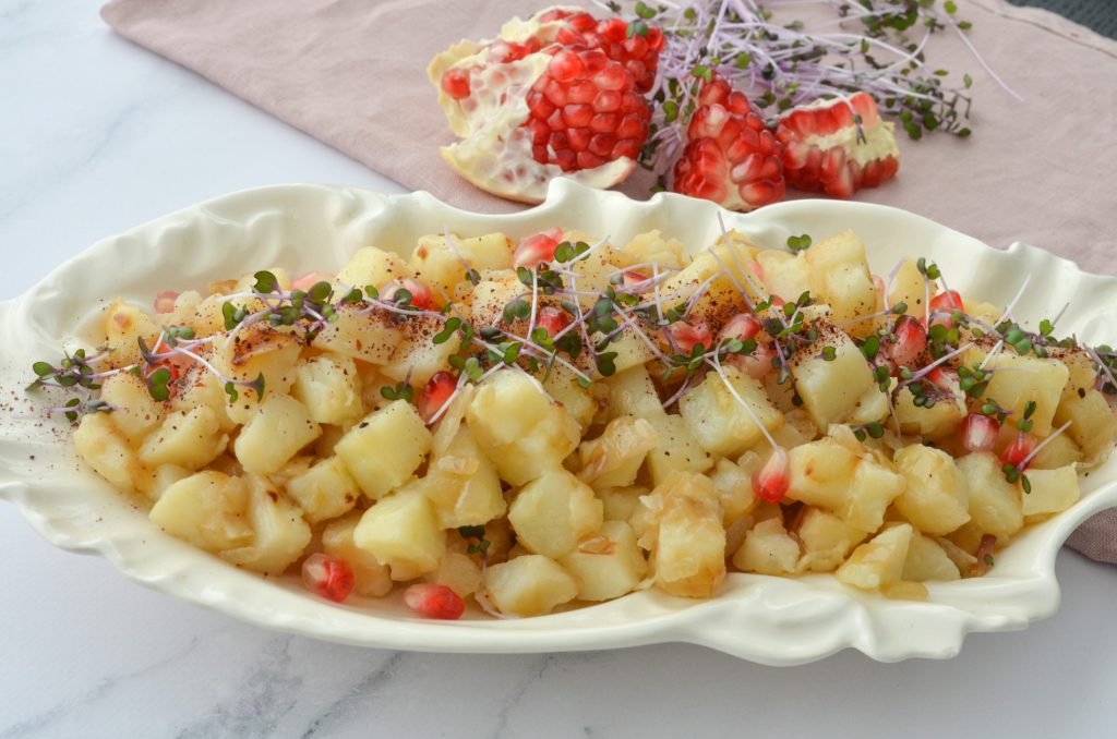 Pan-fried potatoes with sweet onion by rouba shahin-WEB-001