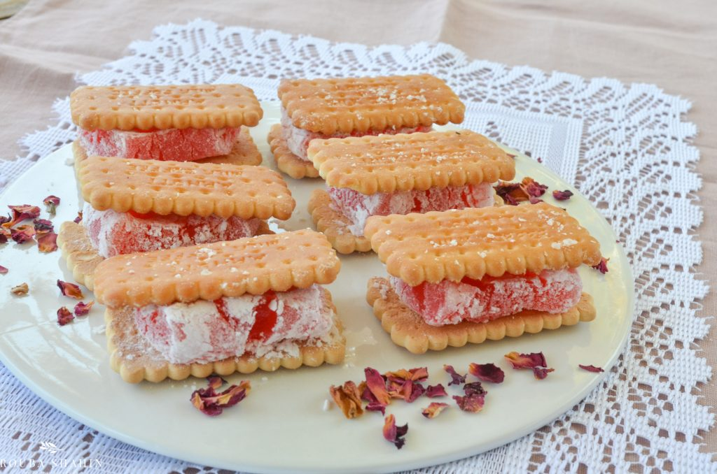 Turkish delight sandwiches