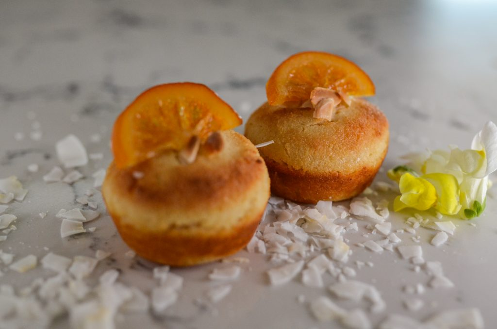 salted orange blossom semolina cakes