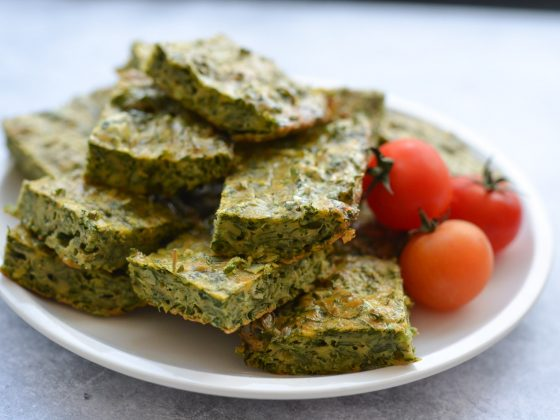Green Herb Ejjeh Quiche