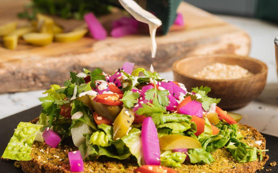 falafel quiche