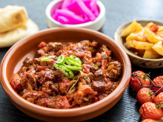 galyat bandoura served with mezza style food